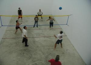 Wallyball Raquetball Court